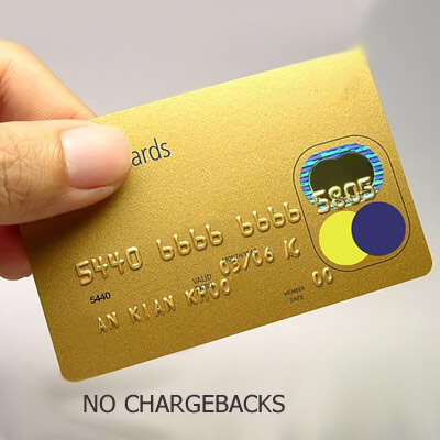NO CHARGE BACK
